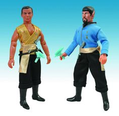 "I remember having some of the original Mego Star Trek figures on which these new ""mirror universe"" items are modeled. Would've been nice if these were available back then."