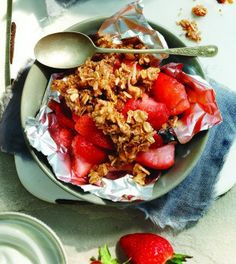 Clean Eating Strawberry Coconut Crisp via LOVE LETTERS TO HOME.