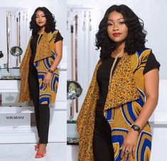 Best of Ankara Jackets 2020 ~ Switch Afrique African Wear Dresses, Latest African Fashion Dresses, African Print Fashion, African Attire, Afro, Mode Kimono, African Tops, African Style, Ankara Jackets