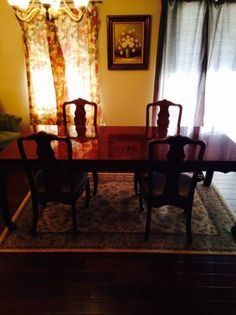 Charmant Gorgeous Redwood Dining Table And Chairs