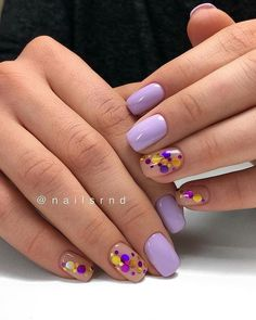 25 - 2019 year colorful nail designs - 1 Colorful nail designs prepared for you are presented to your liking. You can look at the nail design categori. Colorful Nail Designs, Cool Nail Designs, Cute Acrylic Nails, Cute Nails, Confetti Nails, Wow Nails, Gel Nagel Design, Nagellack Trends, Nagel Gel
