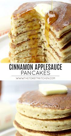 Egg Free Recipes, Apple Recipes, Baby Food Recipes, Cooking Recipes, Toddler Recipes, Toddler Food, Pancakes Easy, Breakfast Pancakes, Recipe Using Applesauce