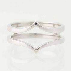 Enhancer Wedding Band  14k White Gold Women's Wrap Ring