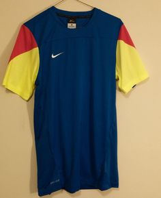 Nike Shirt Medium Mens Sports Football/Soccer Dri-Fit  #Nike #shirt