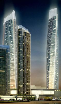 Bashang Jie Towers, Hefei, China by Woods Bagot Architects :: height 316m
