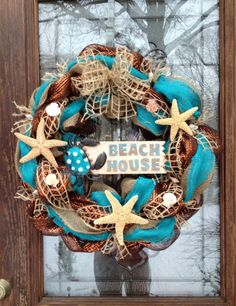 Hey, I found this really awesome Etsy listing at https://www.etsy.com/listing/177203790/beach-house-wreath