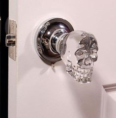 Skull door knobs: creepy or the best thing ever