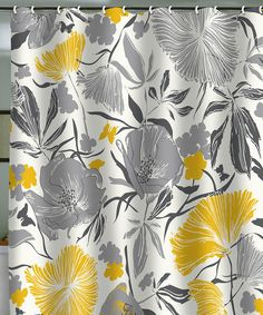 Meg's bathroom ? Gray & Yellow Bryant Park Shower Curtain. Wouldn't be to hard to switch my bathrooms colors