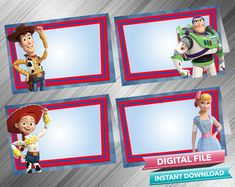Toy Story 4 Food Tent - PrintDParty Selling Birthday Invitation and Printable Party Decoration Digital File. Toy Story Invitations, Printable Birthday Invitations, Printable Labels, Party Printables, Toy Story Food, Party Food Labels, Food Tent, Bag Toppers, 4th Birthday Parties