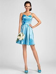 A-line Sweetheart knælange taft brudepige kjole – DKK kr. 412