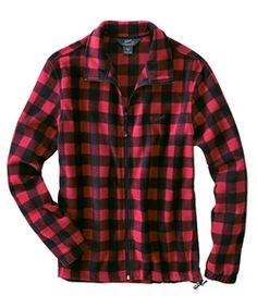 Woolrich Fleece Plaid Jacket