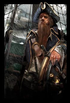 Thar be a difference twixt stayin' calm an' losin' interest! Make sure yer eyes stay sharp, never think a storm be borin'! The Pirates, Pirates Cove, Pirates Of The Caribbean, Pirate Art, Pirate Life, Pirate Theme, Pirate Ships, Pirate Boats, Character Portraits