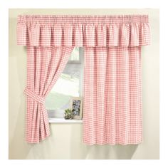 Superb Kitchen Curtain Ideas Are Easily Available Even N Magazines Or You Can Get  Great Ideas For Inspiration At Other Peopleu0027s Houses. Pink Gingham Curtains  ...