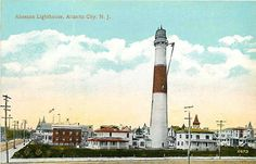 Atlantic City New Jersey NJ 1910 Absecon Lighthouse Collectible Vintage Postcard
