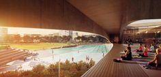 Galeria de Andrew Burges Architects vence concurso para projetar um parque e um centro aquático em Sydney - 4