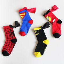 3-6 T Esporte Marca The Avengers Miúdo Meias Moda Spiderman Superman Projeto das Crianças Meias Masculinas de Basquete Futebol meias(China (Mainland))