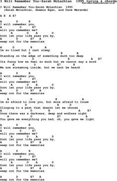 i will remember you- sweet, sad, beautiful song <3