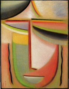 Alexej von Jawlensky - Abstract Head. Summery, 1931. Oil on board, 43.5 x 33.5 cm (17 1/4 x 13 1/4 in.). @ Sotheby's Images, London
