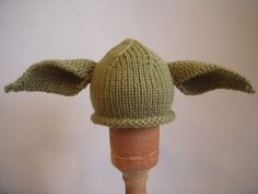 Yoda Hat, Hand Knit Baby, Toddler, Children, Teen, Adult, Perfect For Your Star Wars Fan, Halloween Costume, Knitted Newborn Photo Prop. $24.99, via Etsy.