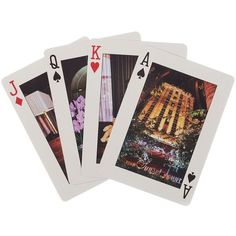 Kate Spade Sunset Tower Hotel Playing Cards (€10) ❤ liked on Polyvore featuring bags, wallets, fillers, items, other, stuff, kate spade, tote handbags, evening bags and star tote bag