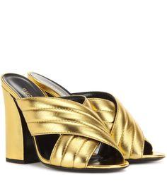 mytheresa.com - Metallic leather sandals - Luxury Fashion for Women / Designer clothing, shoes, bags