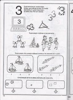 Album Archive - pregatirea pentru scoala a copilului prescolar -matematica Preschool Math, Kindergarten, Math Numbers, Kids Learning, Worksheets, Activities For Kids, Projects To Try, Bullet Journal, Album