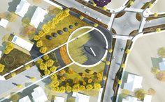 Leavenworth Circle Re-design Initiative #landscapearchitecture #fountain #plaza #public #space #concept #plan