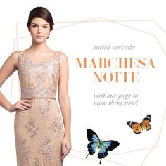 Hello Marchesa Notte! Don't miss out on our new arrivals, visit our site now to get the first look on these classic pieces!