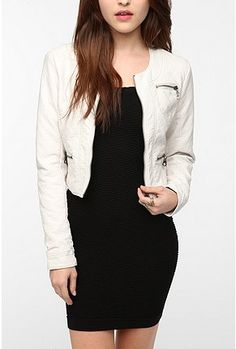 UrbanOutfitters.com > Members Only Quilted Faux Leather Jacket