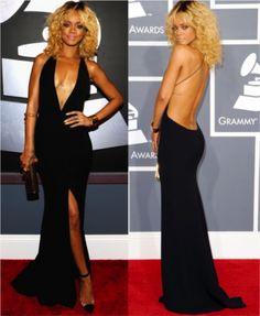 Rihanna in Armani Grammy's 2012 #fashion #style #rihanna #fashionblogger #styleblogger #armani #snobqueens