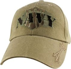 592b180d431 Navy W Arrows Embroidered Military Baseball Cap