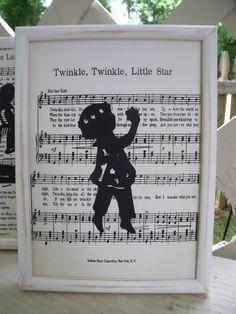 Twinkle, Twinkle Little Star frame---Nursery Decor.