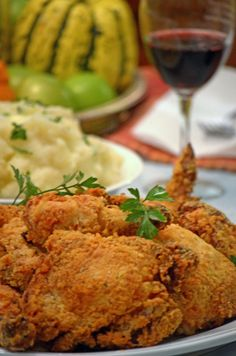 Oven-fried Buttermilk Chicken Buttermilk Oven Fried Chicken, Fried Chicken Recipes, Baked Chicken, Lemon Chicken, Turkey Recipes, Dinner Recipes, Chicken Mashed Potatoes, Fries In The Oven, Carne