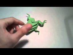 Origami   3D frog    [Origami - Papiroflexia]