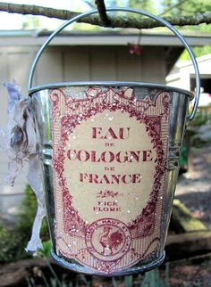 The Graphics Fairy - Crafts: French Glitter Pails