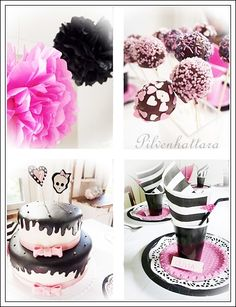 Monster High party ideas  - make the cake with fuchsia instead of light pink