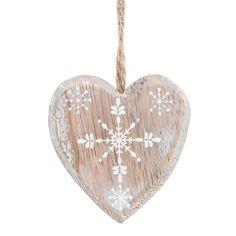 Adorno corazón para árbol de madera L. 14cm ANNECY