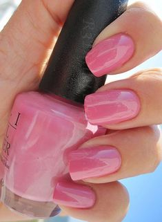 Image result for compare opi it's a girl and bubble bath and care to danse