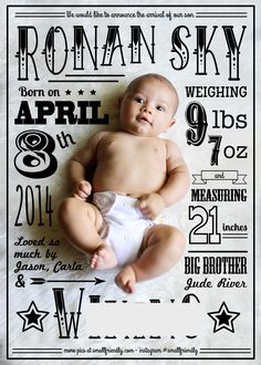 DIY Baby Birth Announcement