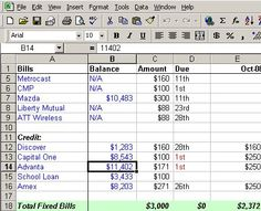 Make A Personal Budget On Excel In  Easy Steps  Student Loan