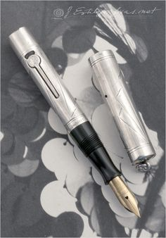 waterman silver fountain pen..