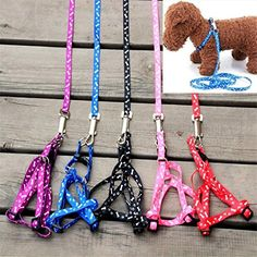 Pet Dog Cat Puppy Printing Leading Harness Belts Leash Set for small size Dog -- Details can be found by clicking on the image.Note:It is affiliate link to Amazon.
