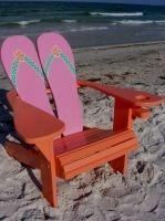 Flip-flop Adirondack Chair by IslandTimeDesign.com in St.Pete Beach, FL