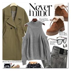 Elastic Waist Coat with Pockets by oshint on Polyvore featuring polyvore fashion style 2nd Day N°21 clothing