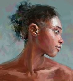 — Portrait by Ivana Besevic Portraits, Portrait Ideas, Portrait Art, Black Women Art, Black Art, Black Pride, My Themes, Figure Drawing, Figurative Art