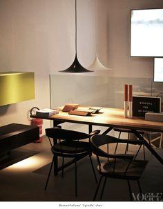 """BassamFellows' """"Spindle"""" chair   Vogue Living"""