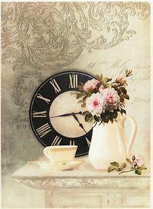 Rice-Paper-for-Decoupage-Scrapbook-Sheet-Craft-Paper-Vintage-Still-Life-Cream