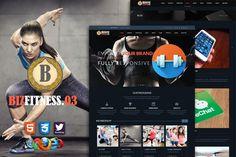 Biz Fitness 3 Premium HTML5 Template by bizgenz on @creativework247