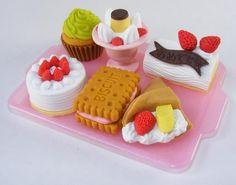7 Dessert Cake Ice Cream Eraser Set W/ Pink Tray IWAKO Japan by Iwako. $5.98
