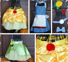 More baby girl aprons! Belle, Dorothy, and Tianna. Wishing I had a mini-me to dress up in these right about now!